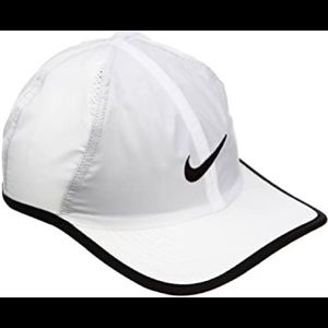 Nike White AeroBill Featherlight Cap